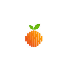 wave fruit logo icon design vector image