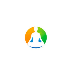 wellness logo icon design vector image