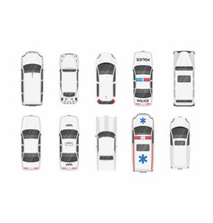 white different cars top view vector image