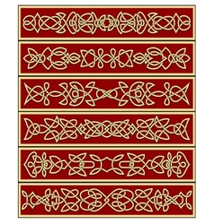 Floral traditional celtic knot ornaments vector image vector image