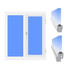 Plastic window vector image vector image