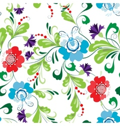 Seamless abstract floral pattern 1 vector image vector image