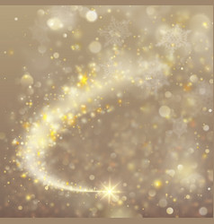 spiral trail with bokeh effect eps 10 vector image vector image