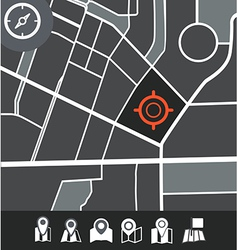 Abstract city map vector image vector image
