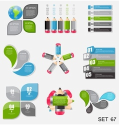 Collection of Infographic Templates for Business vector image