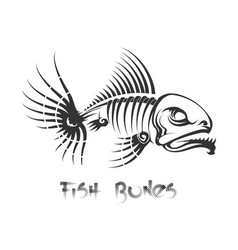 fish bones tattoo vector image vector image