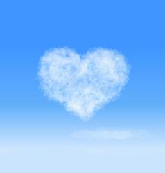 Heart cloud vector image
