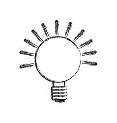 isolated lighting bulb vector image vector image