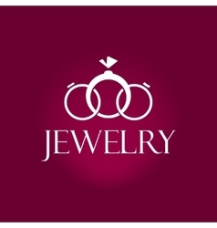 Jewelry logo element design isolated on vector image vector image
