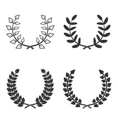 set of wreaths isolated on white background vector image vector image