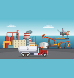 Background of petroleum industry oil vector