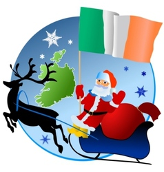 Merry Christmas Ireland vector image vector image