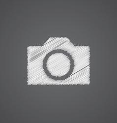 photo camera sketch logo doodle icon vector image