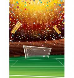 soccer stadium vector image vector image