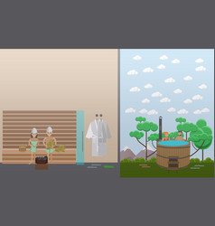 spa aqua therapy concept in vector image