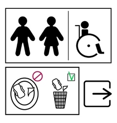toilett signs set vector image