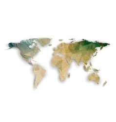 World map with shadow textured design vector image vector image