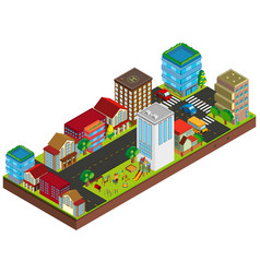 3d design for buildings in city vector image