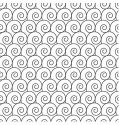 abstract hand drawn outline spiral curl seamless vector image vector image