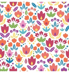 Abstract tulips seamless pattern background vector image vector image