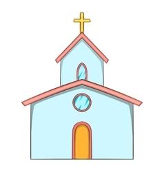Church icon cartoon style vector image