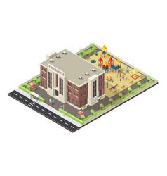 colorful isometric children playground concept vector image vector image
