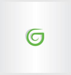 g letter logo green icon symbol design vector image vector image