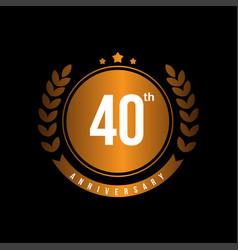 40th anniversary template design vector