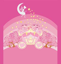 Abstract fairy tale invitation card vector
