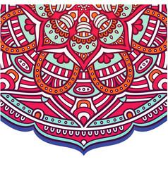 abstract mandala flower pink tone design im vector image