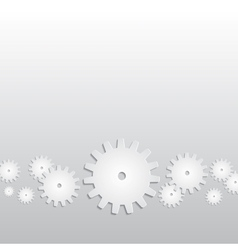 Background with paper gears vector