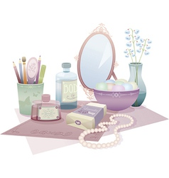beauty accessories vector image