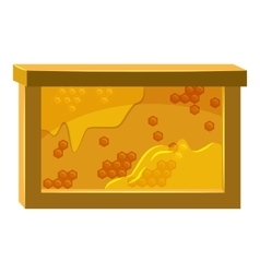 Bee honeycombs icon cartoon style vector