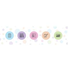 Binder icons vector