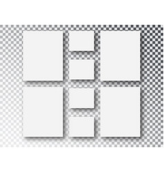 blank picture frames templates parts picture or vector image