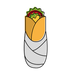 Burrito food mexican culture related icon image vector