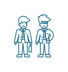 business partners linear icon concept business vector image