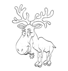 Cartoon image of reindeer vector