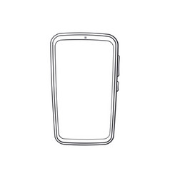 cartoon smartphone with full touchscreen vector image