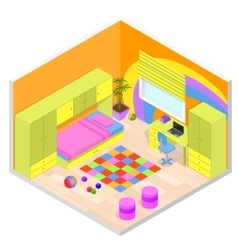 Children Room Isometric View vector image