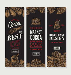Cocoa vertical banners vector