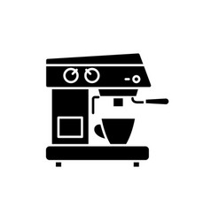coffee machine black icon sign on isolated vector image
