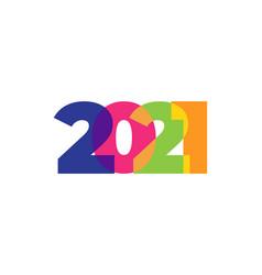 colored 2021 happy new year elegant design vector image