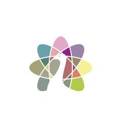 colorful peacock logo vector image