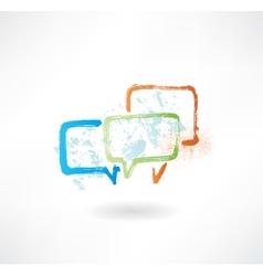 Coloured speech bubbles Brush icon vector image