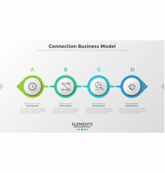 Concept of connection business model vector
