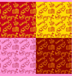 cooking seamless patterns vector image