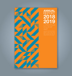 Cover annual report 1210 vector