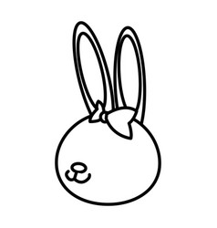 Cute rabbit cartoon sweet animal funny vector