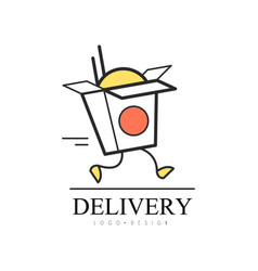 Delivery logo design food service delivery vector